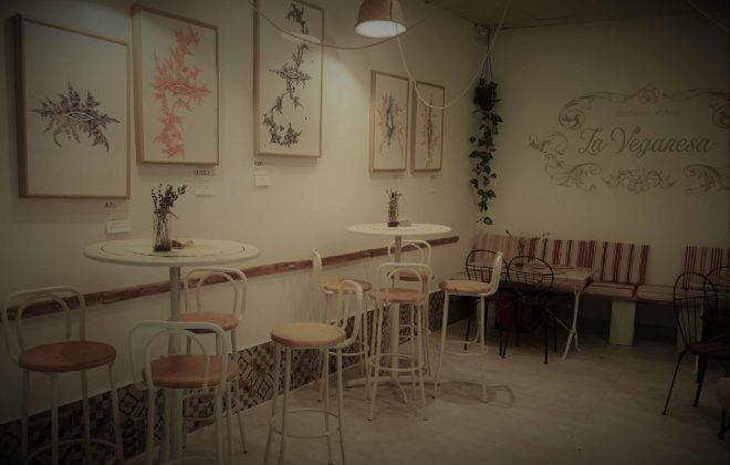Interior del restaurante la Veganesa en el Pópulo, Cádiz